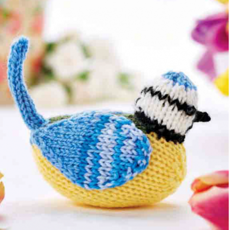 Albie the Blue Tit Knitting Pattern