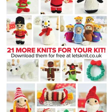 21 Mini Christmas Knits: Nativity, Santa, Elf & More Knitting Pattern
