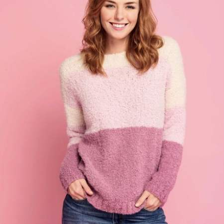 Cosy Boucle Jumper Knitting Pattern