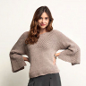 Bramble Stitch Cape Sleeve Jumper