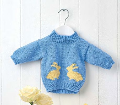 Learn To Knit A Bunny Baby Jumper