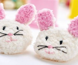 Learn to Knit Easy Bunny Baby Slippers