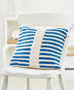 Cable And Stripe Cushion