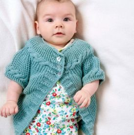 Baby Cable Cardigan For The Big Christmas Cast On