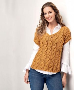 Cable Tunic Top