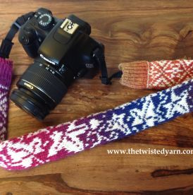 Colourful ivy camera strap