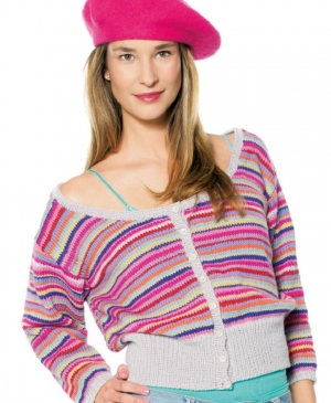 Stash buster striped cardigan