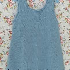 Child's Lace Border Dress Knitting Pattern