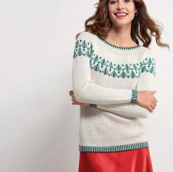 Top-Down Christmas Tree Yoke Sweater