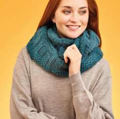 Chunky Wave Cowl Knitting Pattern