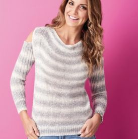 Sparkly Cold Shoulder Sweater