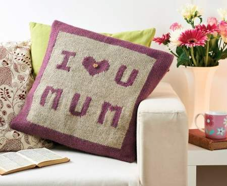 Message Cushion Knitting Pattern