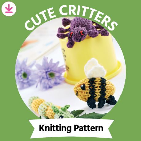 Bumblebee, Spider and Caterpillar Knitting Pattern
