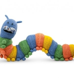 Doug the caterpillar draught excluder