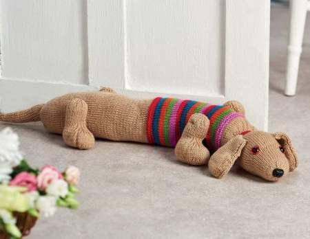 Sausage Dog Draught Excluder | Free Knitting Patterns ...