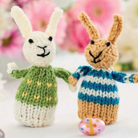 Quick & Easy Easter Egg Rabbits | Free Knitting Patterns ...