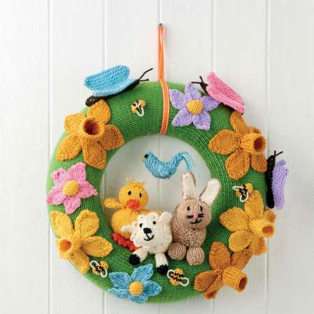 Easy Spring Wreath Knitting Pattern