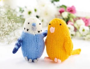Easy Knitted Budgies