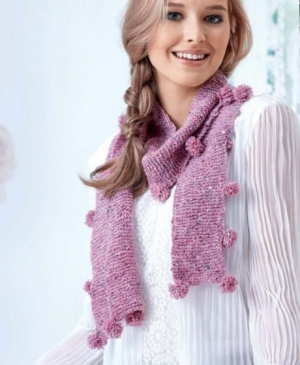 Learn to Knit A Pom-pom Scarf!