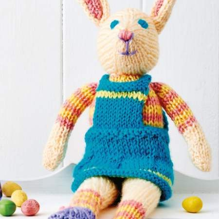 Lets Knit Wool /& Pattern Knit Knitting Kits Billy Bunny or Dress Up Betty Bunny