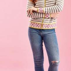 Fair Isle Border Cardigan Knitting Pattern