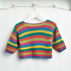 Garter Stitch Rainbow Baby Jumper Knitting Pattern