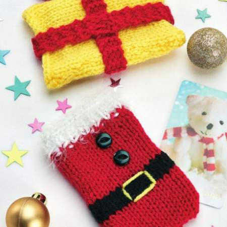 Gift Card Holders For The Big Christmas Cast On Knitting Pattern