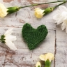Easy Green Heart Brooch