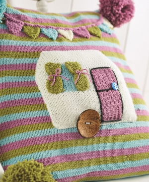 Cute caravan cushion
