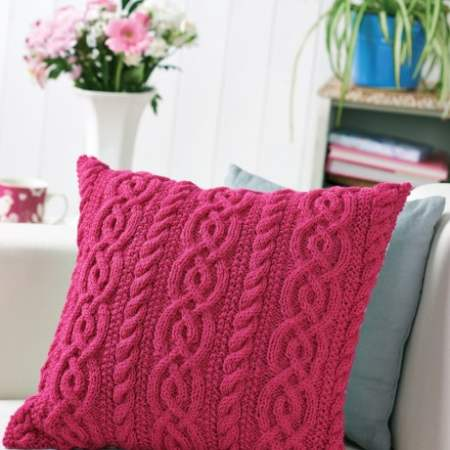 Cable Cushion Knitting Pattern