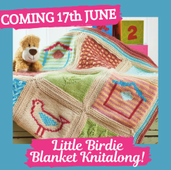COMING 17TH JUNE! Little Birdie Blanket Knitalong Knitting Pattern