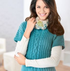 Short Sleeve Cabled Jumper