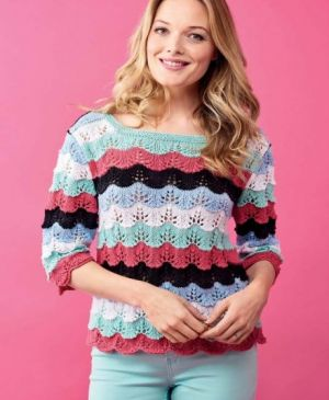Scallop Sweater To Knit For Summer