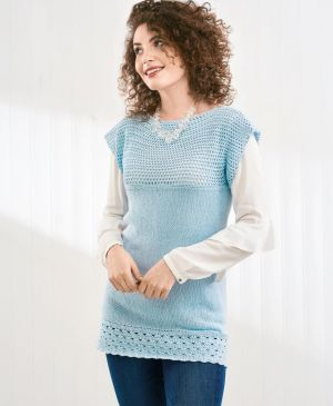 Knit and Crochet Tunic Top