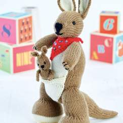 Kangaroo and Joey: Support Australian Animals - Knitting Pattern