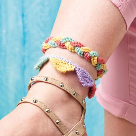 Anklet Trio Knitting Pattern