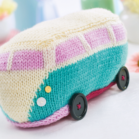 Cuddly Campervan Knitting Pattern