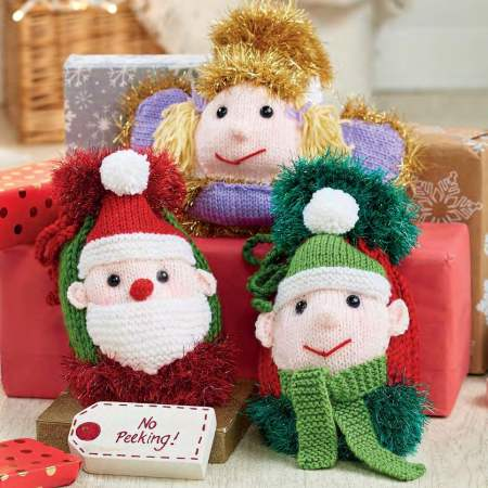 Quick Christmas Gift Bags | Free Knitting Patterns | Let's Knit Magazine