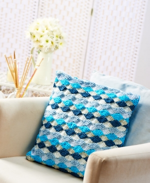 Fan-stitch cushion