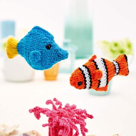 Clown fish and friends Knitting Pattern