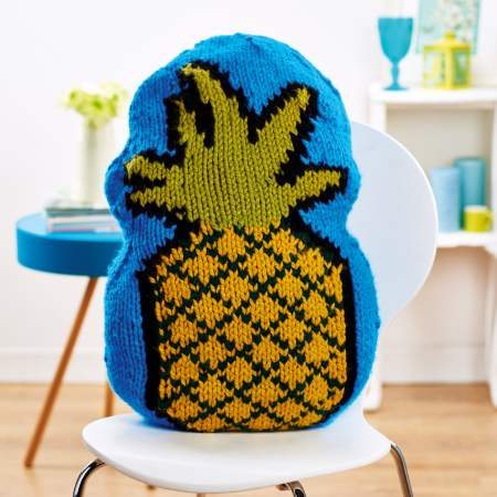 Pineapple cushion Knitting Pattern