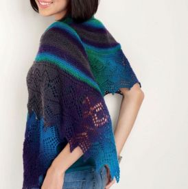 Colourful Lace Shawl