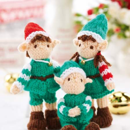 Mini Christmas Elves Knitting Pattern