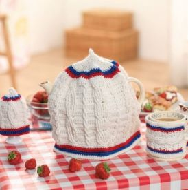 Crochet Cricket Cosy Set