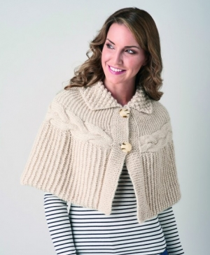 Chunky Cable Cape