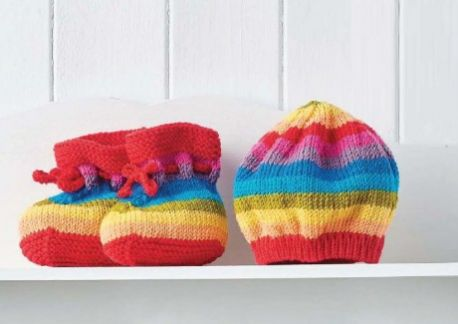 Easy Stripy Baby Set