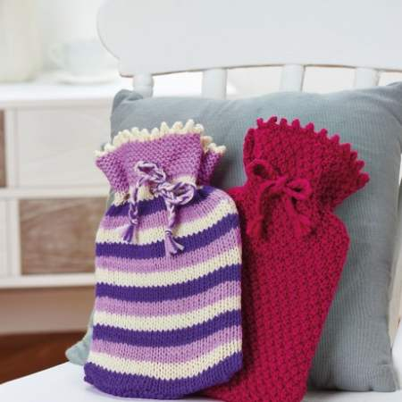 Simple Hot Water Bottles Knitting Pattern
