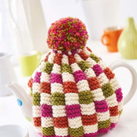Easy Colourful Teacosy Knitting Pattern