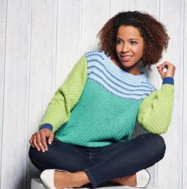 Colourblock Cotton Jumper