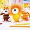 Lion, Tiger and Giraffe Toy Set
